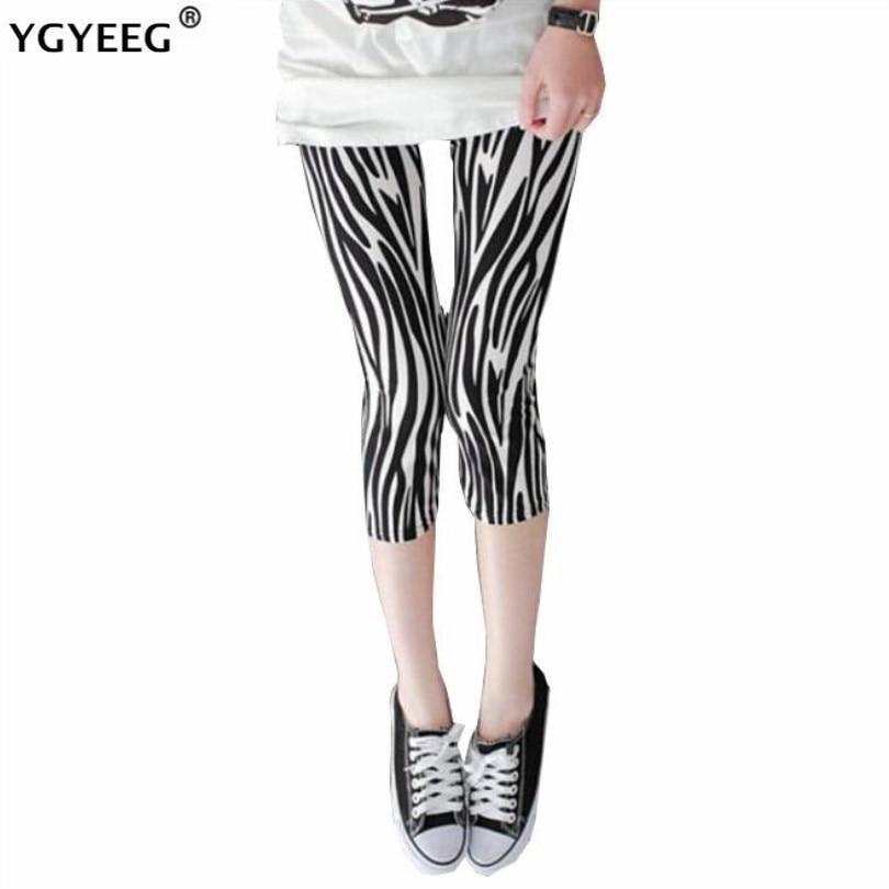 YGYEEG Elastic Calf-Length Pencil Print Pants Women 2020 Summer Fashion Lady Skinny Leggings High Quality Female Slim Capris