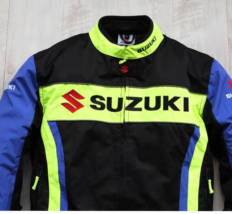 Nova Chegada 2019 Homens Da Motocicleta Jaquetas de Corrida para SUZUKI Offroad Motocross Equitação à prova de Vento Quente Jaqueta com 5pcs Protetores - 4