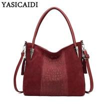 YASICAIDI Casual Tote Top Handle Ladies Hand Bags PU Leather Satchel Crossbody Shoulder Bag Women Messenger Bag Sac A Main Femme