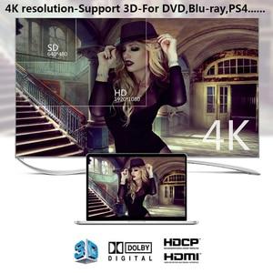 Image 3 - HDMI אודיו Extractor ממיר 5.1CH/ 2CH אודיו ספליטר 4k סטריאו אנלוגי HDMI כדי HDMI אופטי SPDIF מתאם ממירי