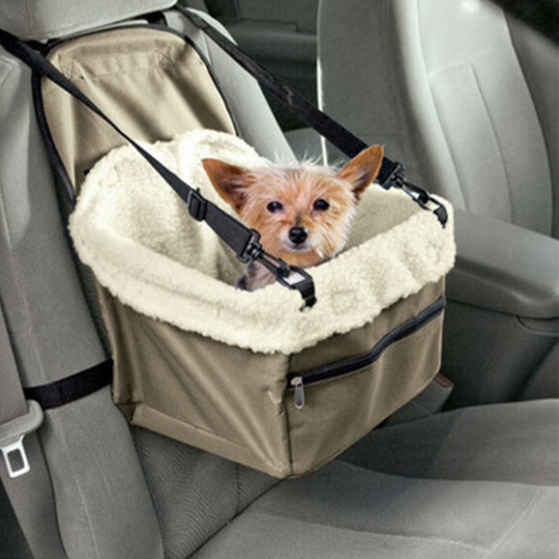 Pet Dog Carrier Car Seat Cover Folding Hammock Safe Carry House Washable 2 in 1 Carrier Basket for Dogs