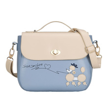 купить New Trend Ladies Shoulder Bag PU Leather Korean Version Of Cute Candy Color Messenger Bag Shoulder Bag Fashion Women's Handbags по цене 1234.16 рублей