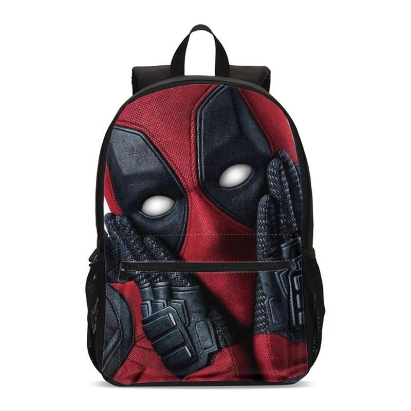 New Kids School Bag Fashion Cool Marvel 3D  Backpacks For Boys Printing Book Bag Teenager Casual Daypacks Mochila Infantil Gift