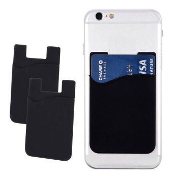 2pcs/Lot Phone Back Wallet Silicone Sticker Back Cover Card Holder Small Card Cell Phone Case Pouch For Iphone Xiaomi Samsung 2019 hot sale fashion adhesive sticker mobile phone back cover card holder case pouch for cell phone support bus card holder