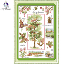 Joy Sunday,Botanical garden,cross stitch embroidery,cross pattern,cross needlework,Scenery picture cross