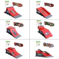 Skate Park Ramp Parts for Tech Deck Fingerboard Finger Board Ultimate Parks New P31B