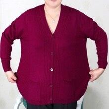Женская одежда размера плюс 5XL 6XL7XL 8XL 9XL, кашемировый свитер большого размера для женщин среднего возраста, вязаная рубашка с рукавами, 2019
