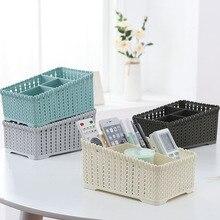 Домашний офис пластик четыре сетки Настольный ящик для хранения контейнер макияж Органайзер