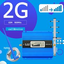 GSM hücresel 2G mobil sinyal güçlendirici 900mhz cep telefonu 900 internet tekrarlayıcı haberleşme amplifikatör kablo + anten ile