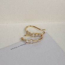 Fashion Gold Color Letter U Pin Ear Cuff Clip on Earrings No