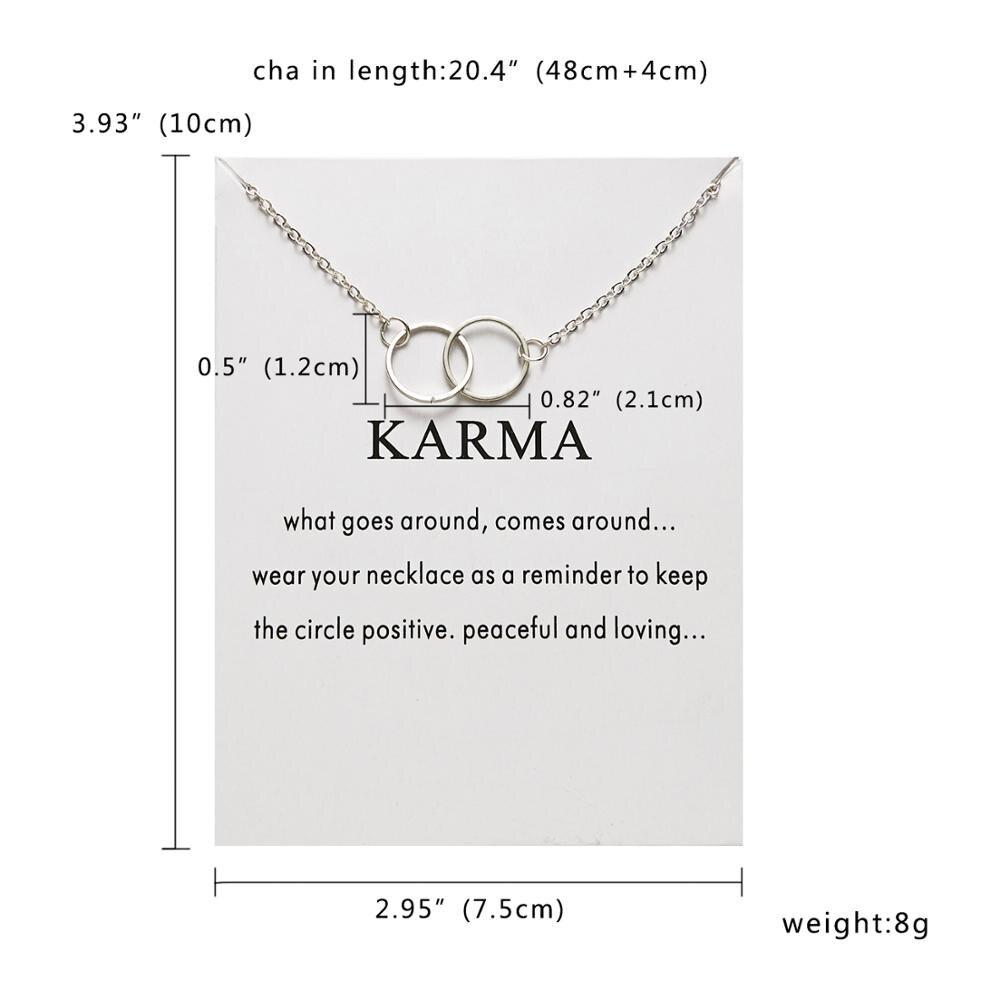 Rinhoo Karma, Двойная Цепочка, круглое ожерелье, золотое ожерелье с подвеской, модные цепочки на ключицы, массивное ожерелье, Женские Ювелирные изделия - Окраска металла: 12