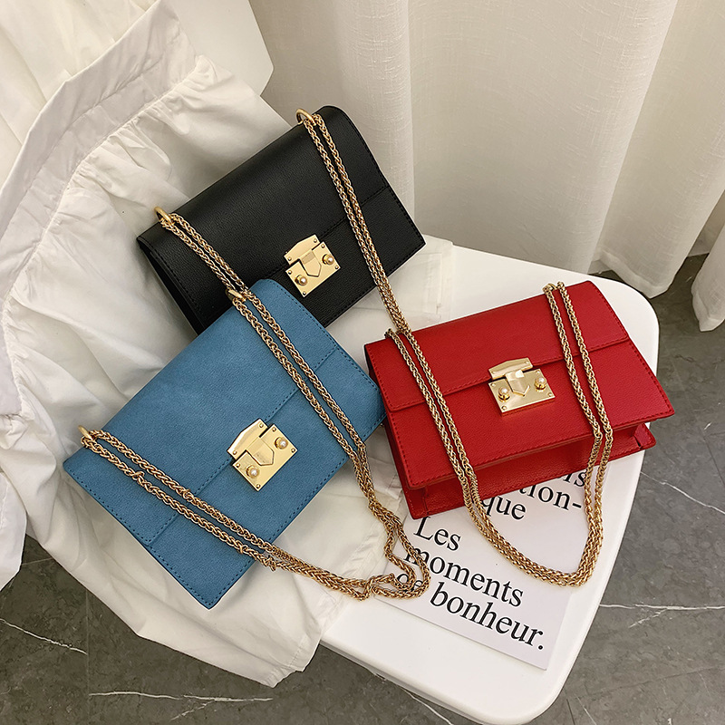 2019 Fashion small Women Bag pu Leather Chain Handbags PU Shoulder Bag Flap Crossbody Bags for Women Messenger Bags in Top Handle Bags from Luggage Bags