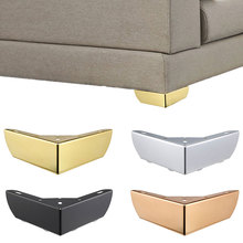 Metal Gold Furniture Leg Right Angle L Shape Furniture Feet Sofa Cabinet Cupboard Coffee Bar Protecter Pads Hardware Accessories