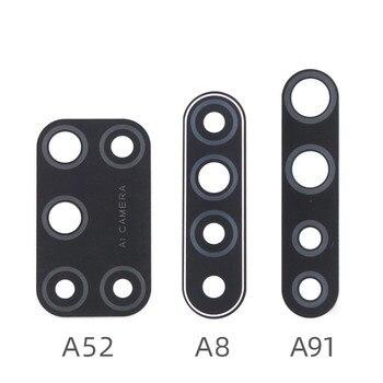Перейти на Алиэкспресс и купить Задняя камера стеклянная крышка объектива для Oppo A52 A8 A91 с Ahesive стикер запасные части