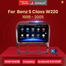 Junsun V1 4G + 64G אנדרואיד 9.0 DSP עבור מרצדס בנץ S Class W220 S280 S320 S350 S400 s430 S500 S600 1998 2005 רכב רדיו GPS DVD