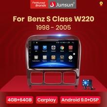 Junsun V1 4G + 64G Android 9.0 DSPสำหรับMercedes Benz S Class W220 S280 S320 S350 S400 s430 S500 S600 1998 2005 วิทยุรถยนต์GPS DVD