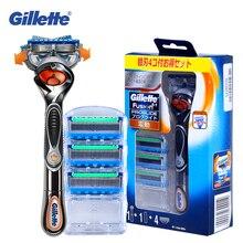 Lâminas de barbear gillette fusion, lâminas de barbear elétricas, proglide, com suporte, lâmina afiada