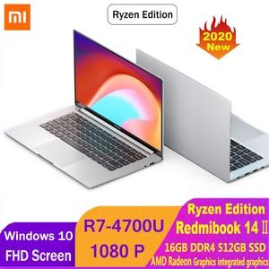 Xiaomi RedmiBook 14 Ⅱ Ryzen Edition Laptop AMD Ryzen 7 4700U 14 Inch 1920*1080 FHD Screen 16GB DDR4 512GB SSD Notebook