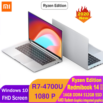 Xiaomi RedmiBook 14 Ⅱ Ryzen Edition Laptop AMD Ryzen 7 4700U 14 Inch 1920*1080 FHD Screen 16GB DDR4 512GB SSD Notebook Electronics Laptops