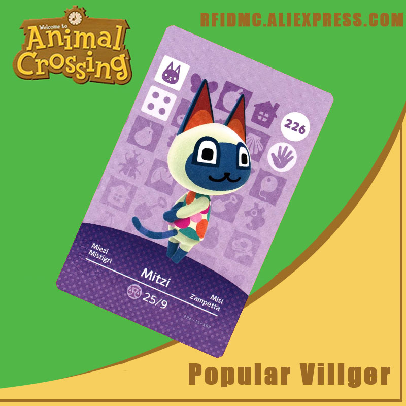 226 Mitzi Animal Crossing Card Amiibo For New Horizons