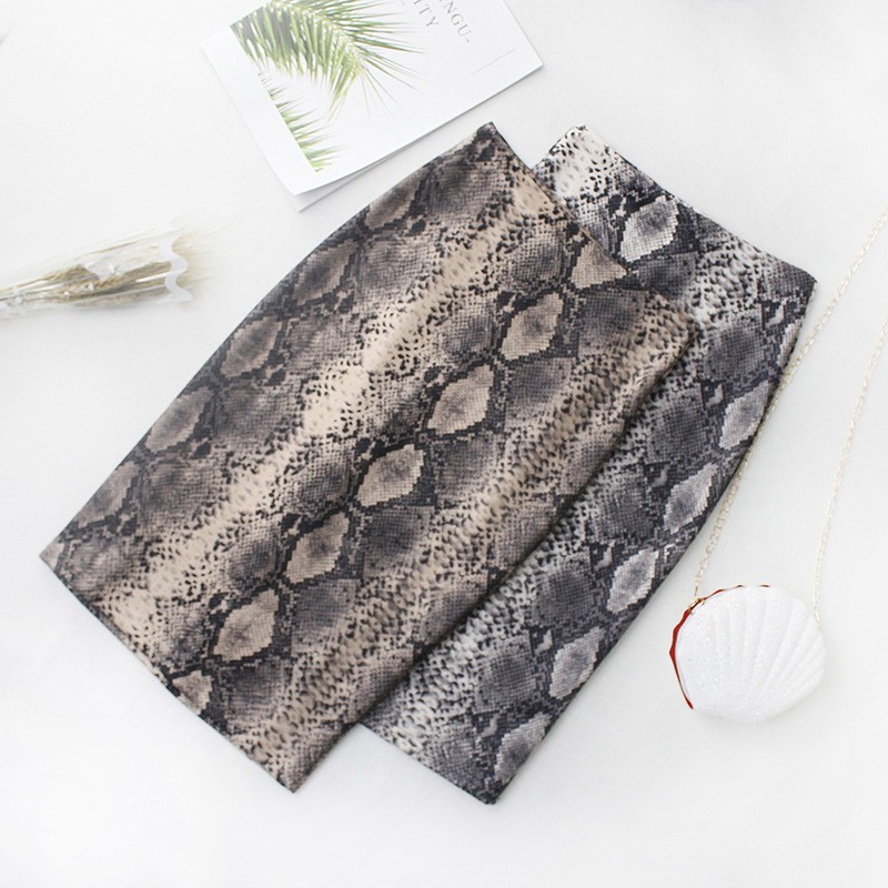 DeRuiLaDy Fashion Women Snake Print Skirt 2019 New Casual Sexy High Waist Elegant Skirts Womens Office Lady Skirt