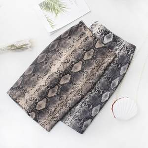 Deruilady Skirt Snake-Print Fall Office Sexy Winter Fashion Womens High-Waist Casual