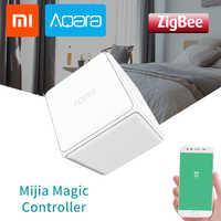 Xiaomi Aqara cubo mágico controlador Original Zigbee Controlaba seis acciones interruptor de Control remoto inteligente en casa para mi jia mi casa APP