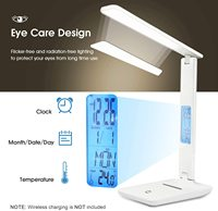LED Desk Lamp with Temperature and Alarm Clock