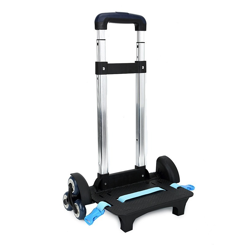 Children 2/6 Wheels Expandable Rod Aluminum Alloy Pull Rod Bracket Roll Cart Kid Trolley For Backpack And School Bag Luggage Bag