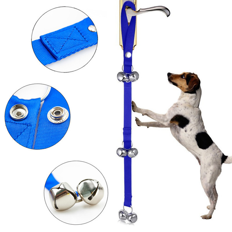 High Quality Dog Housetraining Doorbell Rope Alarm Door Bell Leash For Dogs Cats 85cm Length Adjustable Puppy Trainer Tools-0