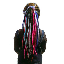 SAMBRAID Dreadlocks Hair Extensions Crochet Braids 24 Inch C