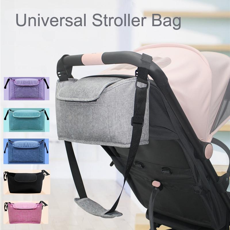 Universal Trolley Buggy Organiser 2in1 Baby Pram Pushchair Stroller Holder Bag