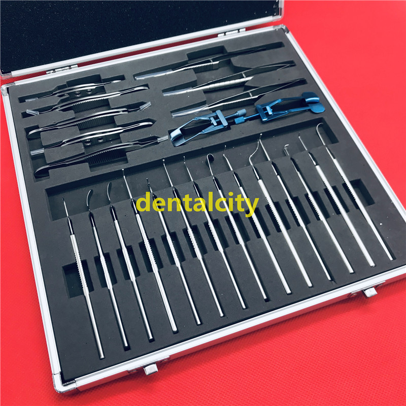 24pcs  Strabismus Ophthalmic Stainless Steel Eye Micro Surgery Surgical Instruments Set