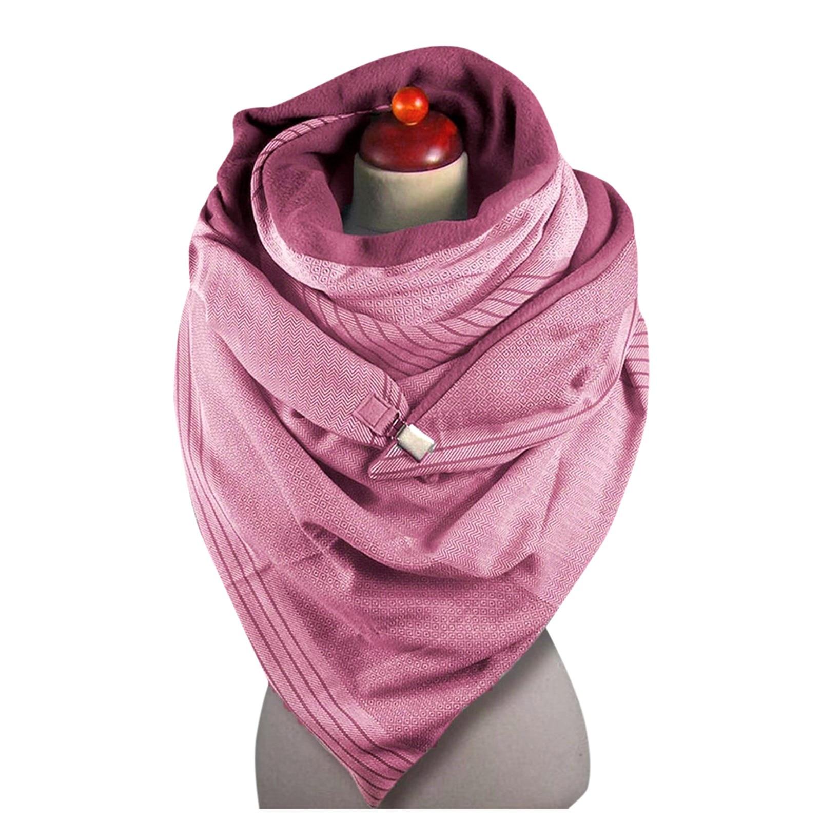 2020 Scarf Women Printing Scarf Fashion Retro Female Multi-Purpose Shawl Button Scarf шарф женский зимний