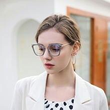Óculos para borda completa feminino tr frame eyewears upsale gato olhos forma anti-azul óculos ópticos de luz