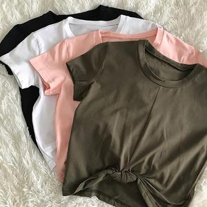 Shirts Crop-Top Short-Sleeve Active-Wear Lumbar Fitness Sexy Sports Womens Gym Zhangyunuo