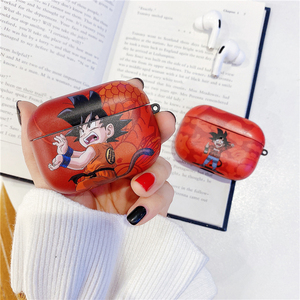 Image 2 - קריקטורה יפן אנימה הדרקון כדור Bluetooth אוזניות מקרה עבור אפל Airpods פרו מצחיק חמוד נארוטו סיליקון אלחוטי אוזניות כיסוי