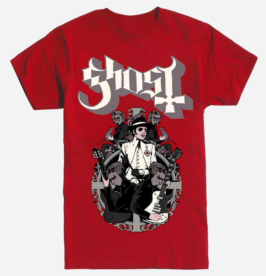 Ghost Papa Cardinal Copia Mountains Long Sleeve Black T-Shirt Metal Band NWT