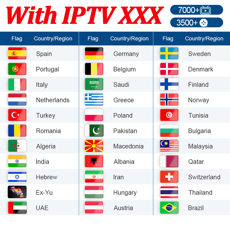 IPTV Germany Spain Portugal Europe Hot IPTV XXX Spanish Sweden Albania Netherlands Turkey IPTV Subscription Arabic Morocco IP TV