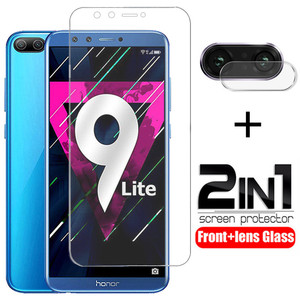 2 IN 1 Tempered Glass for Huawei Honor 9 8 lite 9i screen protector camera lens protective glass for huawei honor 8 9 lite glass