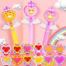 Children Illuminated Toys Girl music Flash Magic Stick toy with Music Glitter Bracelet Toy gifts(China)