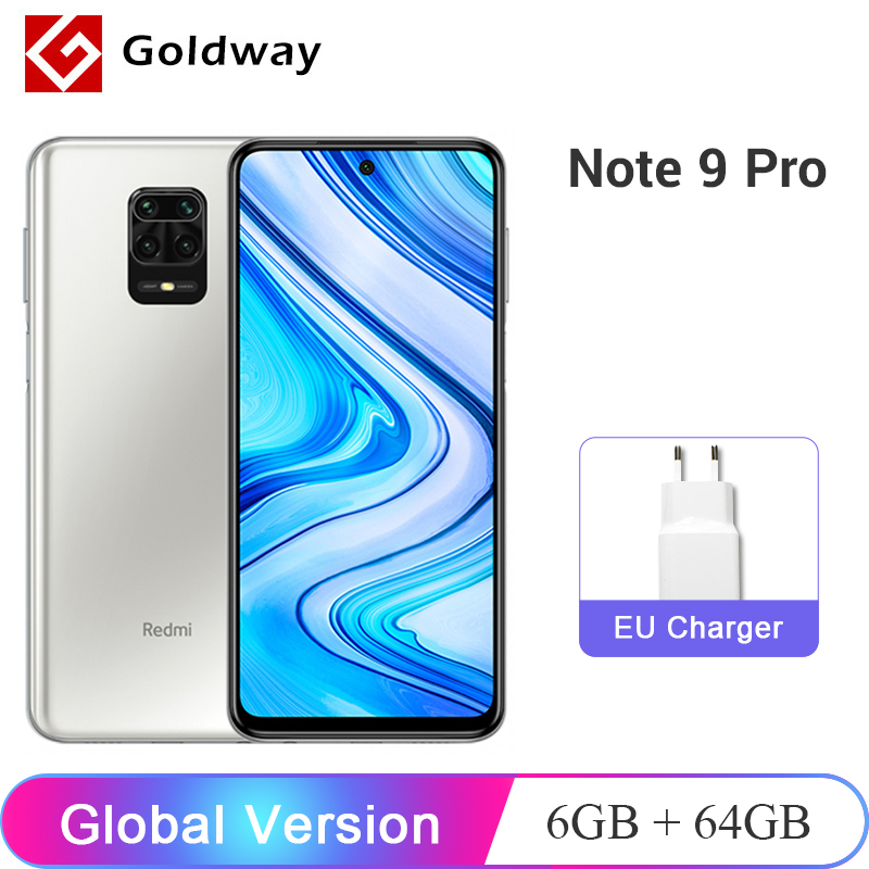 Global Version Xiaomi Redmi Note 9 Pro 6GB RAM 64GB / 128GB ROM Mobile Phone Snapdragon 720G 64MP Quad Camera 6.67\