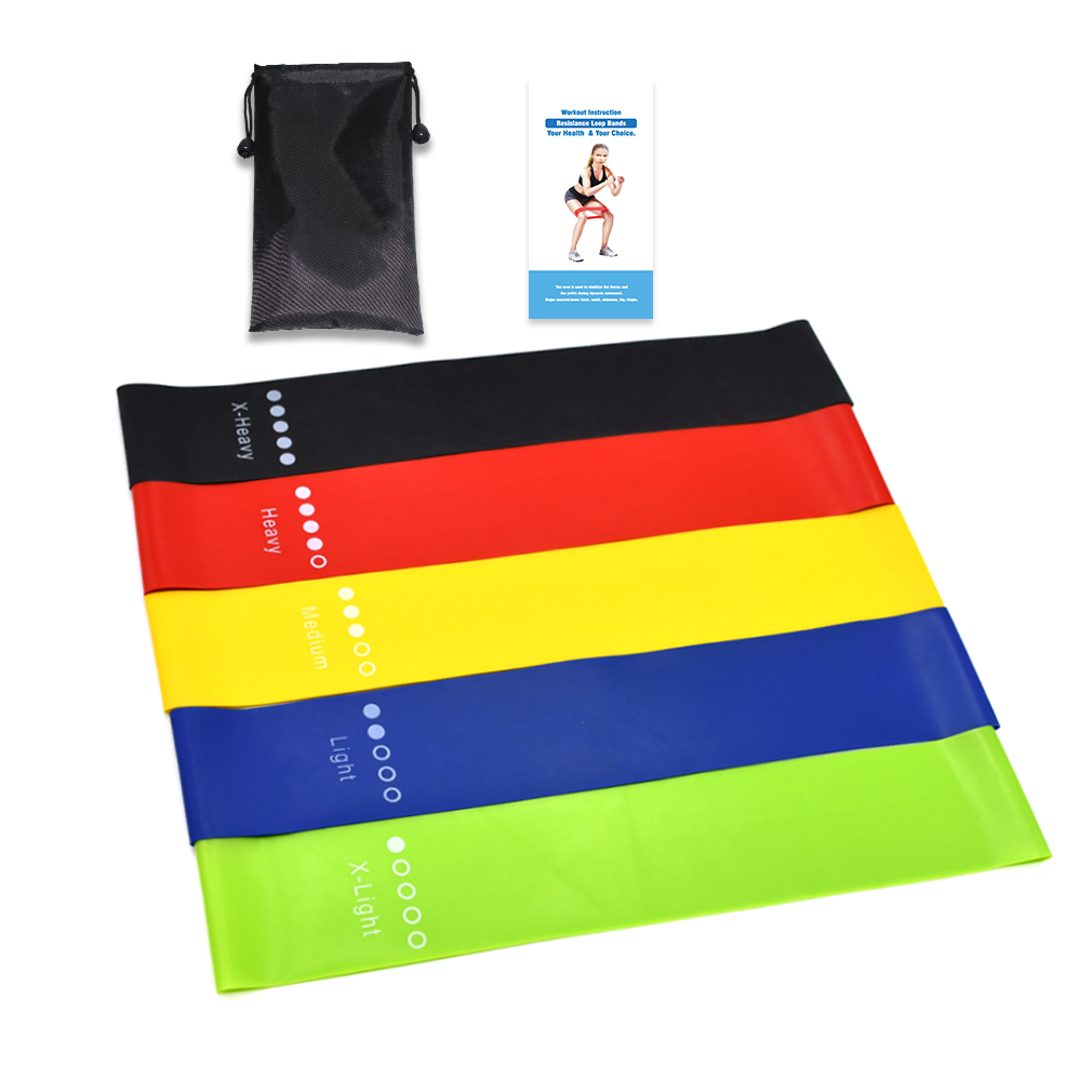 4PCS High Quality Latex Tension Band Fitness Non-slip Resistance Yoga Exercise Physical Therapy Household Fitness Latex Tension