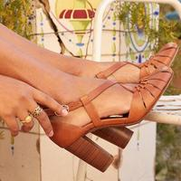 AIWEIYi Ladies Sandals Open Toe Shoes Women Pumps Ankle Cross Strap Sandals Woman High Heels Dress Party Shoes Zapatos Mujer