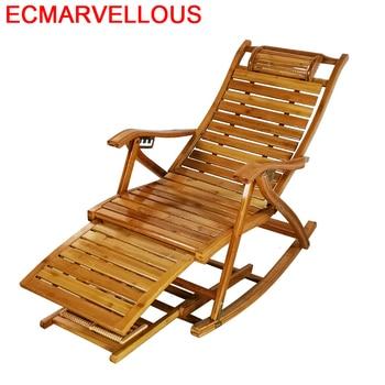 Poltrona-sofá mecedora Plegable de bambú, Cama Plegable, sillón Moderno Para Sala de...
