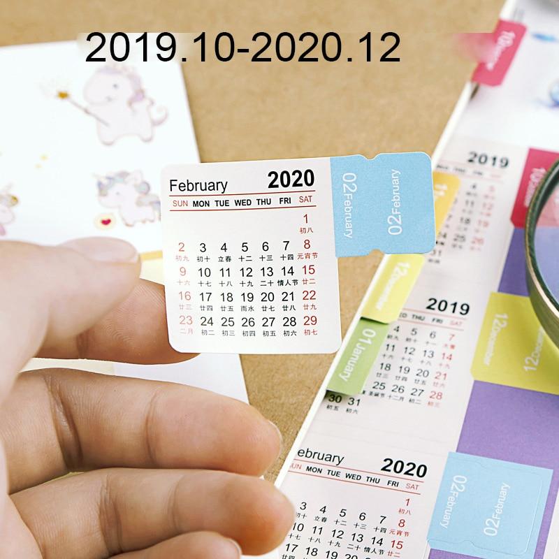2020 Calendar Stickers for Planner Bullet Journal Diary Agenda 2020 Planner