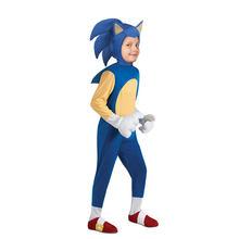 Çocuk harika hızlı mavi kahraman kirpi Video oyunu karakter Sonic hızlı Trick or Treater çocuklar cadılar bayramı kostüm