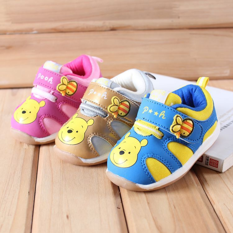 Disney Baby Shoes Kids' Shoes Boy Baby  Winnie  Non-slip Soft Sole