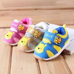Disney baby shoes Kids' Shoes Boy Baby  Winnie  Non-slip Soft Sole