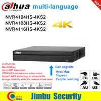 Dahua NVR Network Video Recorder 4K NVR4104HS-4KS2 NVR4108HS-4KS2 NVR4116HS-4KS2 4CH 8CH 16CH 4K H.265/H.264 Multi- lingua